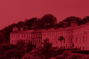Red tinted terraced houses : Mortgages for all reasons